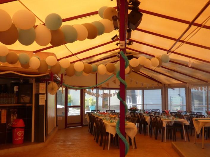 Location de vacances - Chalet à Joyeuse - Terrasse du restaurant