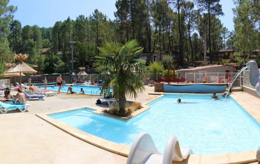 Location de vacances - Chalet à Joyeuse - Piscine chauffée pour les enfants