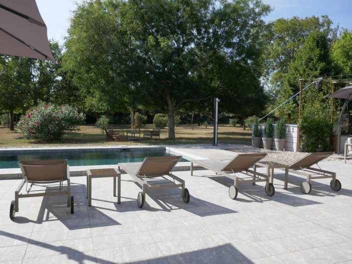 Location de vacances - Mas à Elne - chaises longues