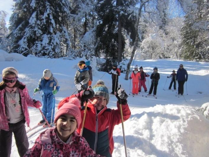 Location de vacances - Chalet à Bellevaux - Cours ski de fond avec Laurent ESF
