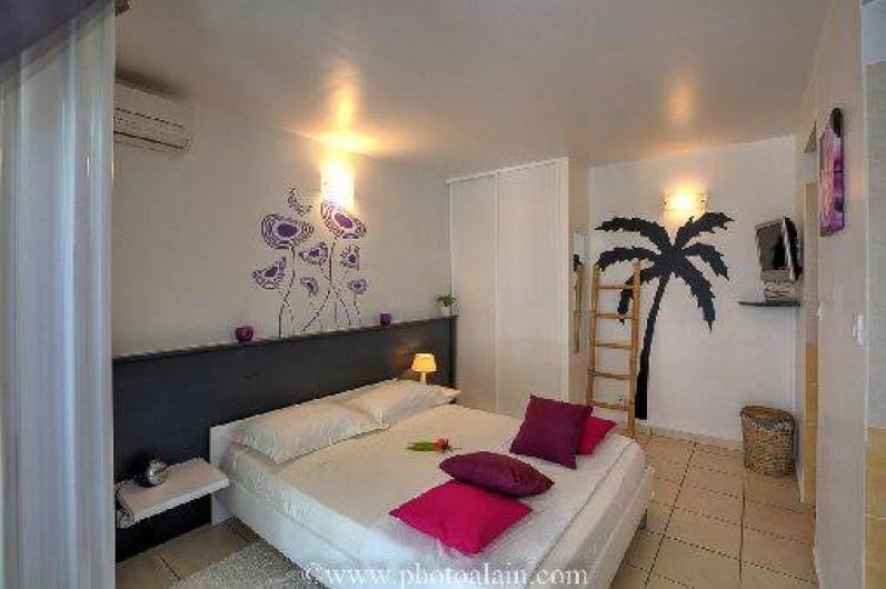 Location de vacances - Villa à Sainte-Anne - Chambre studio 160 x 200