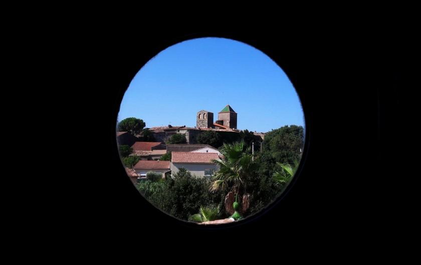 Location de vacances - Chambre d'hôtes à Saint-Jean-de-Fos - Vue du village de Saint Jean de Fos depuis une chambre d'Hôtes