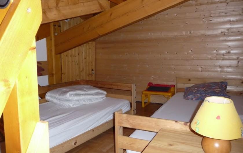Location de vacances - Villa à Biscarrosse Plage - Chambre 3 , Mezzanine et 2 lits 90cm x 200cm