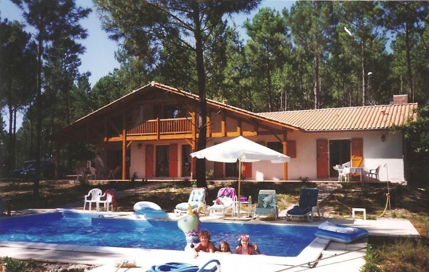 Location de vacances - Villa à Biscarrosse Plage - Maison et piscine