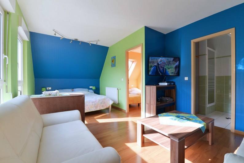 Location de vacances - Gîte à Logelheim - Chambre plus TVet coin détente