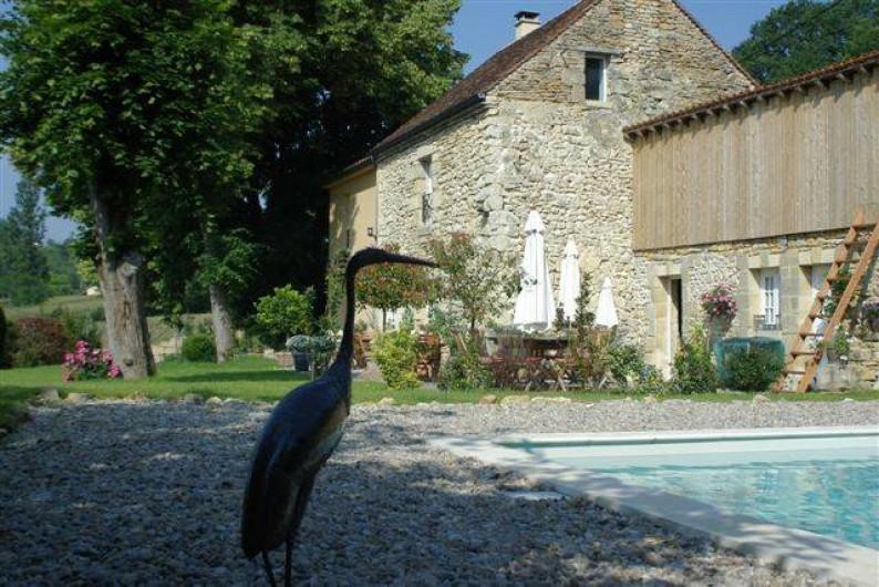 Location de vacances - Chambre d'hôtes à Sarlat-la-Canéda - PIscine et maison