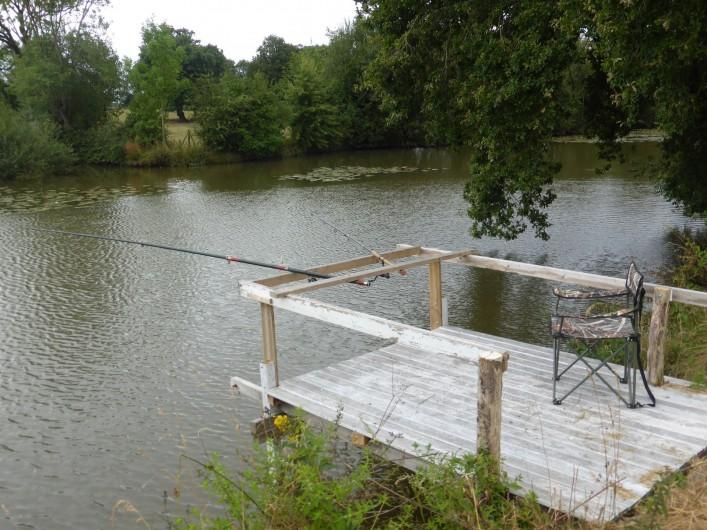 Location de vacances - Maison - Villa à Moncoutant-sur-Sèvre - Ponton du Gîte sur la Sèvre Nantaise