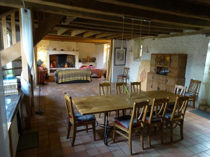 Location de vacances - Gîte à Bourrou - Salon gite alep