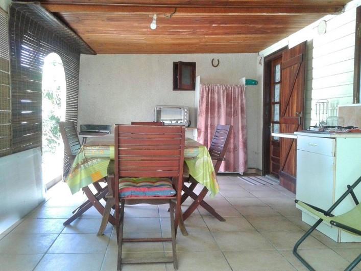 Location de vacances - Gîte à Saint-Paul - Terrasse maison T2