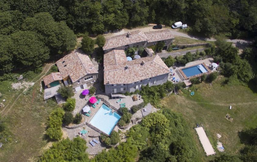 Location de vacances - Gîte à Valgorge - Domaine Le Fraysse (capacité: 32 pers)
