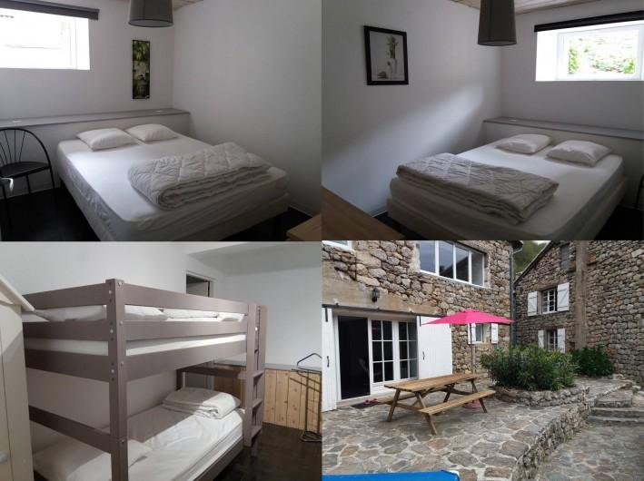 Location de vacances - Gîte à Valgorge - La Bergerie (3 chambres+canapé convertible et sa terrasse)