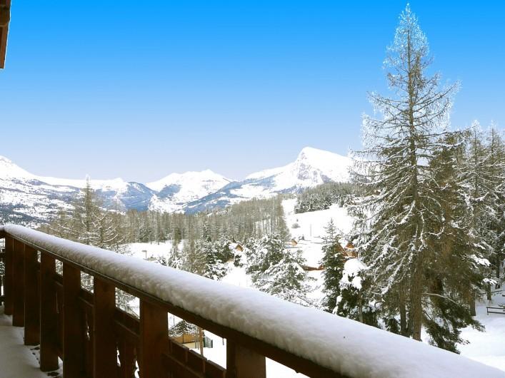 Location de vacances - Chalet à La Joue du Loup - Chalet Sylvaine - Vue montagne depuis le balcon