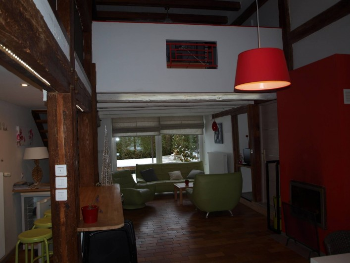Location de vacances - Gîte à Corcieux - Grande pièce à vivre côté salon