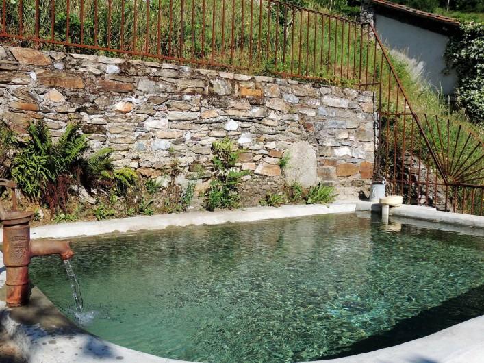 Location de vacances - Mas à Courniou - Le bassin de baignade