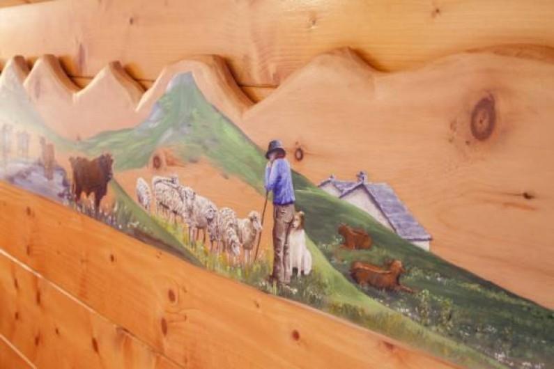 Location de vacances - Appartement à Pralognan-la-Vanoise - L'emmontagnée,  peinte par une artisan de Pralognan