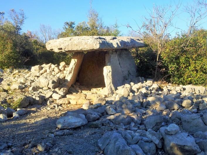 Location de vacances - Gîte à Saint-Alban-Auriolles - randonnée du dolmen au départ de la maison