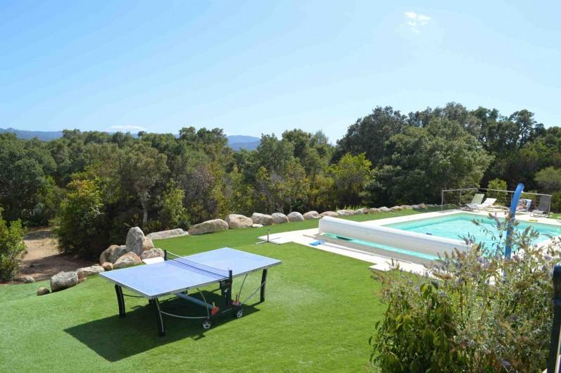 Location de vacances - Villa à Porto-Vecchio - Terrain pelouse synthetique