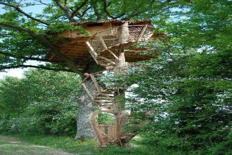 cabanes dans les arbres en basse normandie dans le perche sur un domaine bio moulicent. Black Bedroom Furniture Sets. Home Design Ideas