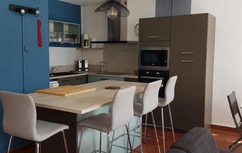 Location de vacances - Appartement à Le Barcarès - vue sur ilot central