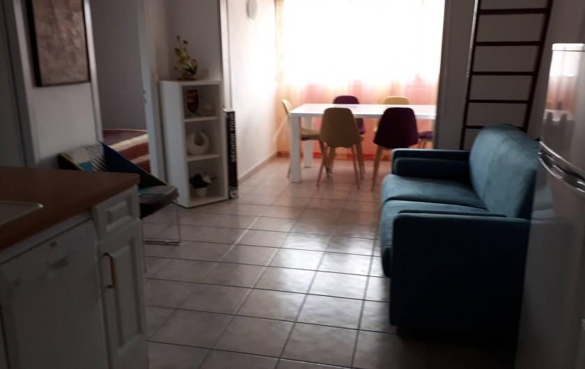 Location de vacances - Appartement à Agde - Vue générale de la pièce à vivre