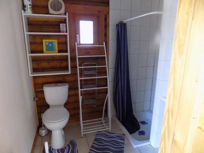 Location de vacances - Chalet à Gérardmer - La salle de bains avec douche lavabo et WC