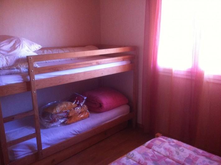 Location de vacances - Gîte à Vaour - chambre 2 : 2 lits superposés 90/190