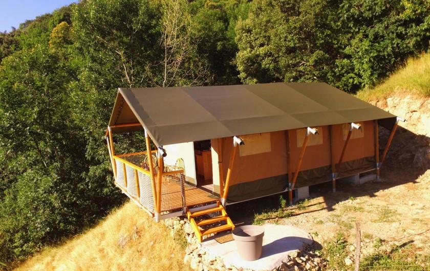 Location de vacances - Gîte à Chirols - Vue de la tente