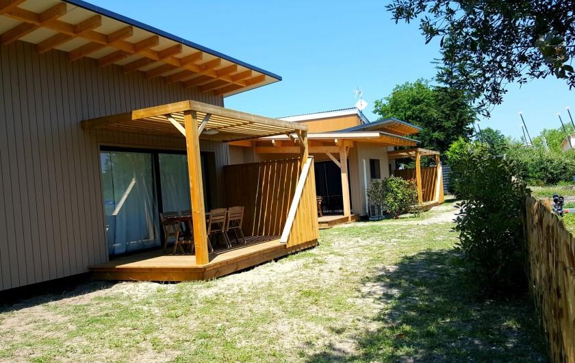 Location de vacances - Appartement à Biscarrosse - Appartement MERMOZ avec sa terrasse privative vue sur le petit port