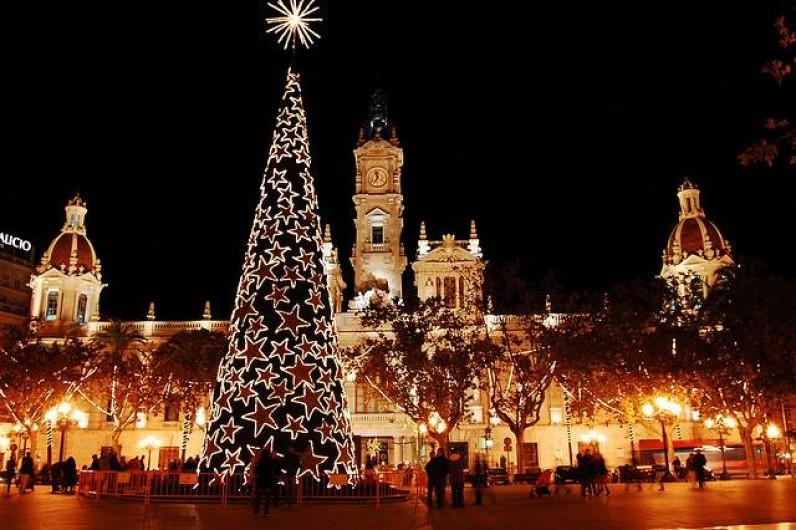 Location de vacances - Appartement à Valence - la mairie illuminée