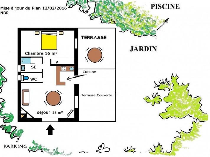 Location de vacances - Mas à Narbonne - Plan maison