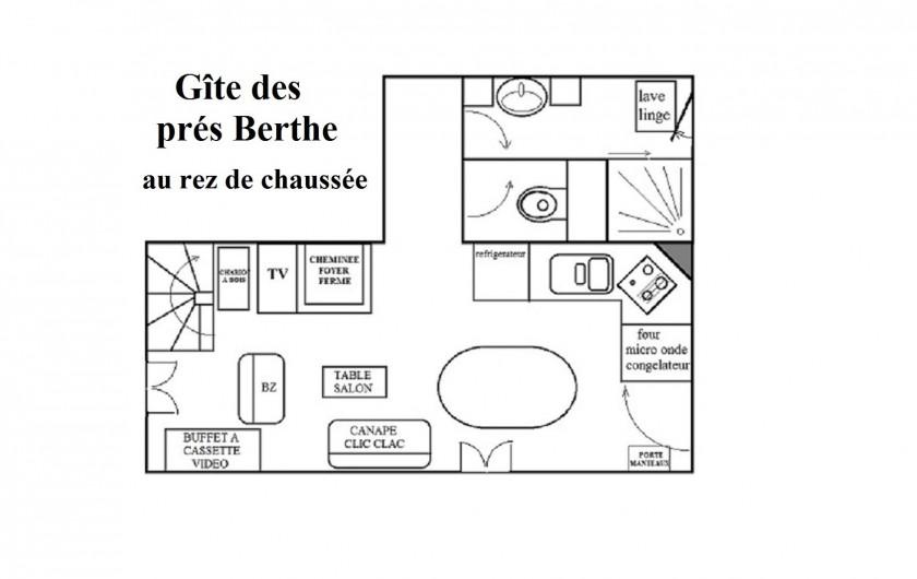 Location de vacances - Chalet à Le Clerjus - plan du rez-de-chaussée