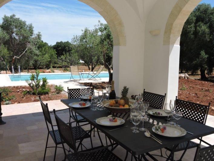 Location de vacances - Villa à Ostuni - Je mange dehors.
