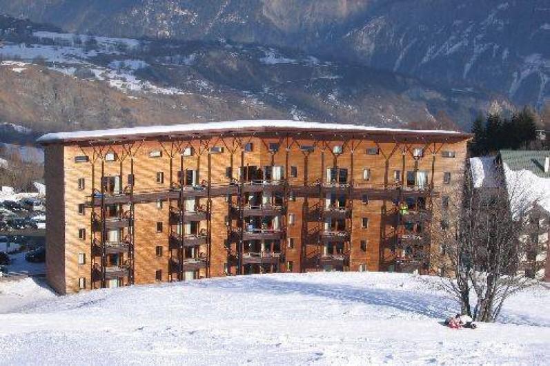 Location de vacances - Appartement à Le Corbier - Résidence LES PISTES - Bâtiment A - Coté pistes