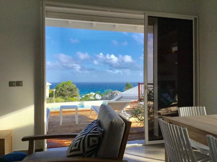 Location de vacances - Villa à Sainte-Anne - vue mer de la villa