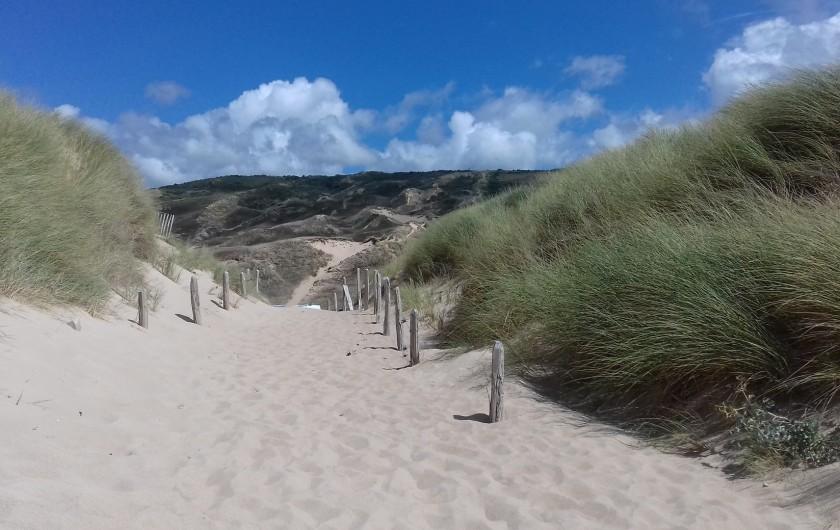 Location de vacances - Gîte à Picauville - Côte ouest les dunes de Biville majestueuses