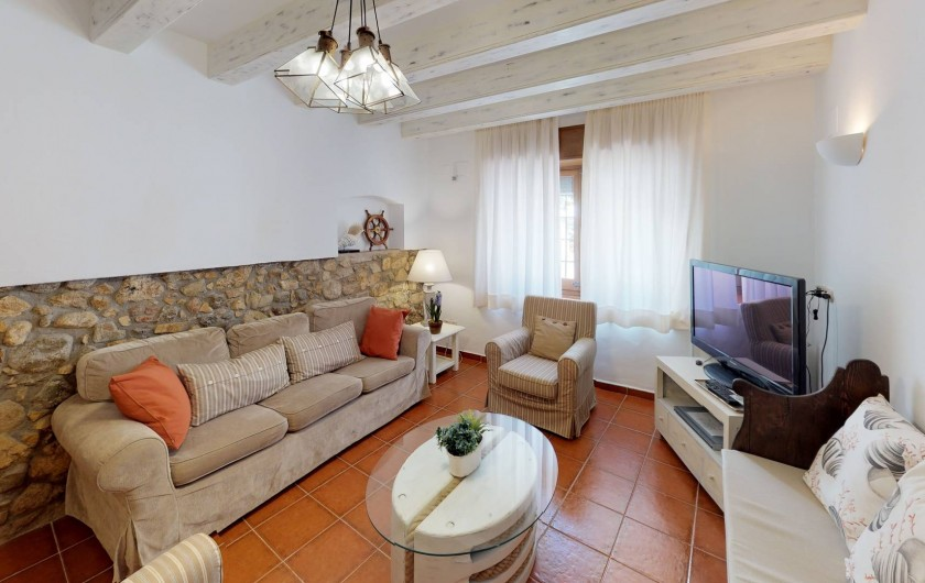 Location de vacances - Mas à Sant Antoni de Calonge - coin TV dans le salle séjour