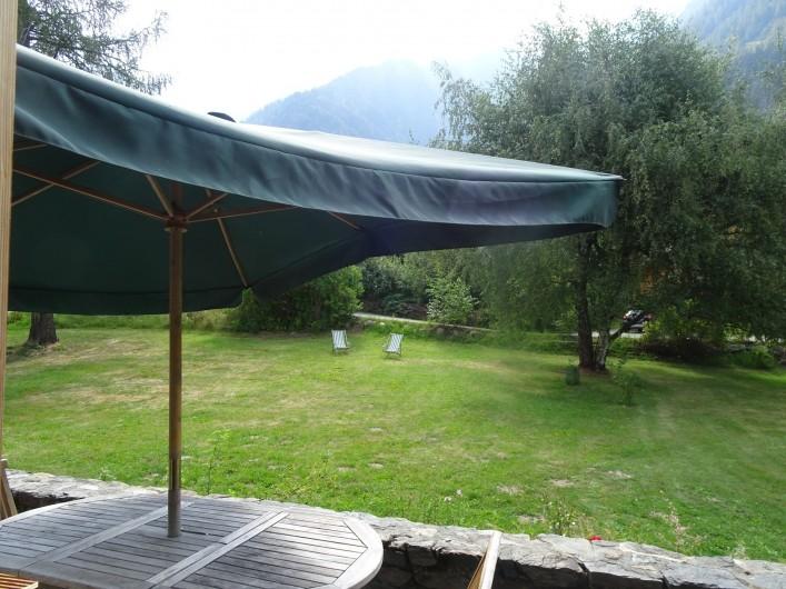Location de vacances - Chalet à Les Houches - Vue sur la chaîne du Mont Blanc