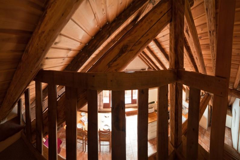 Location de vacances - Appartement à Albiez-le-Vieux - mezzanine / vue séjour