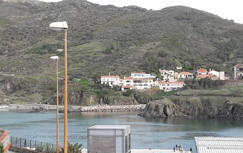 Location de vacances - Appartement à Port-Vendres - vue de la terrasse