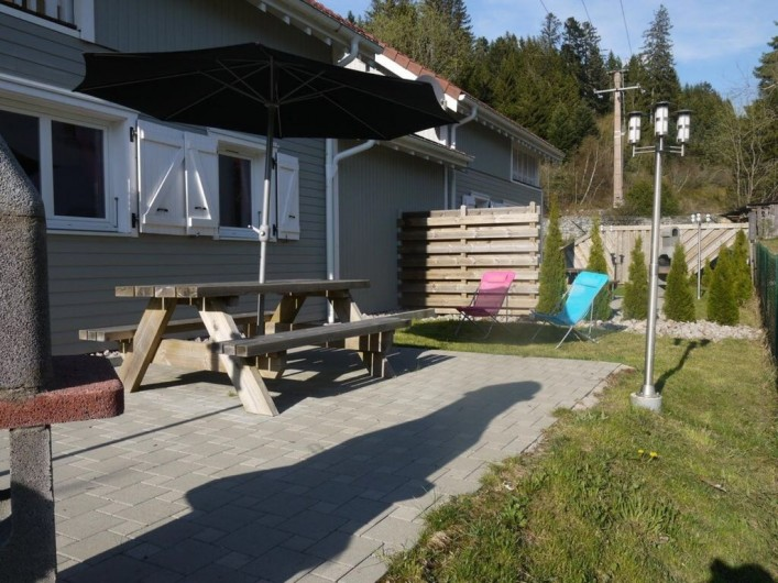 Location de vacances - Chalet à Gérardmer - terrasse plein sud