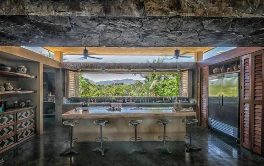 Location de vacances - Chambre d'hôtes à Puerto Escondido - Vue de la cuisine