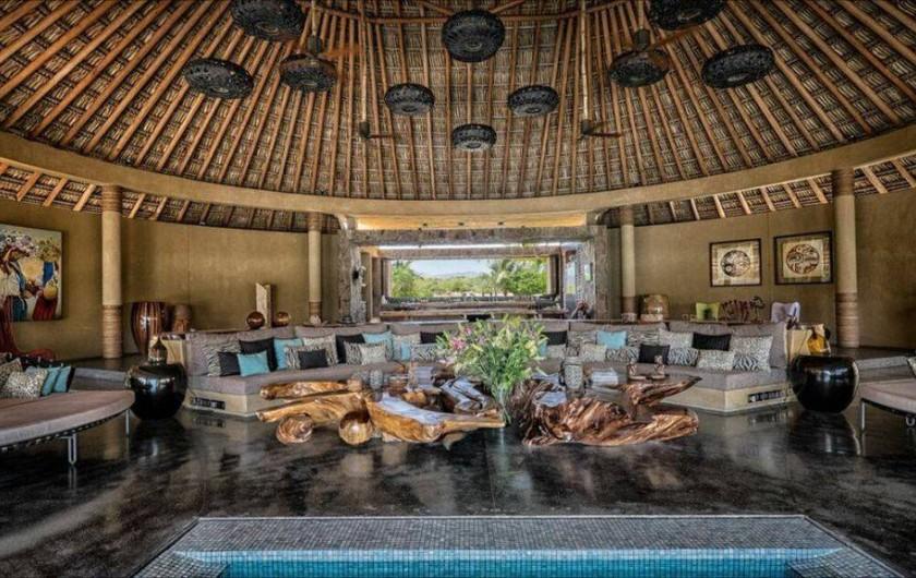 Location de vacances - Chambre d'hôtes à Puerto Escondido - Vue du Palapa principal