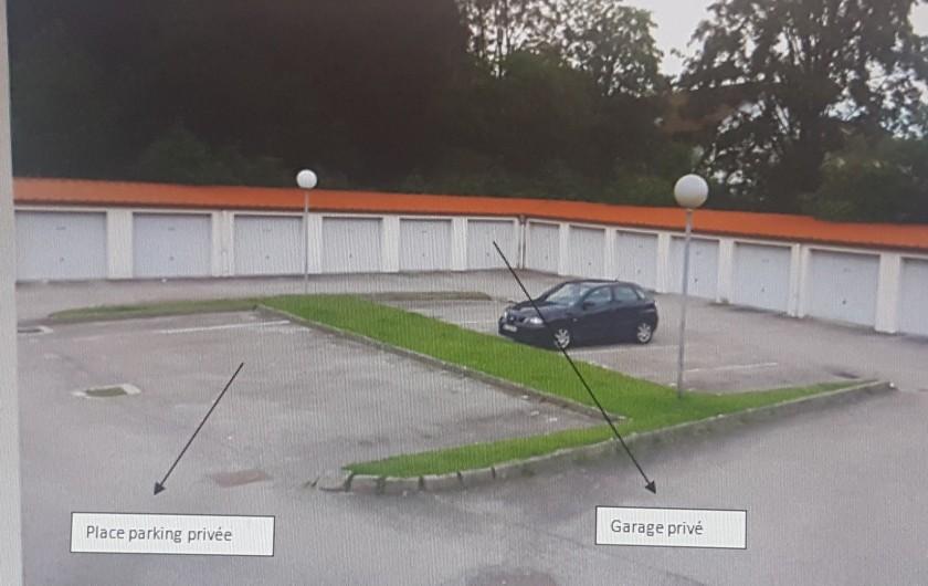Location de vacances - Appartement à Gérardmer - parking et garage privés