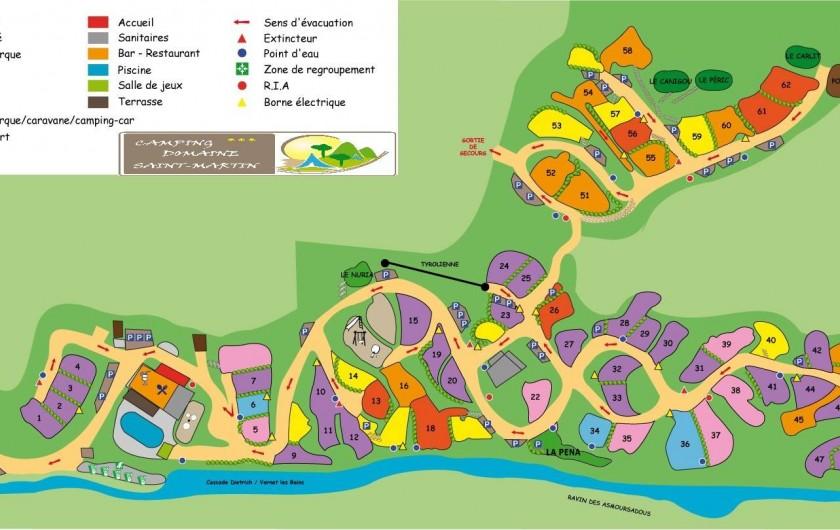 Location de vacances - Bungalow - Mobilhome à Casteil - plan