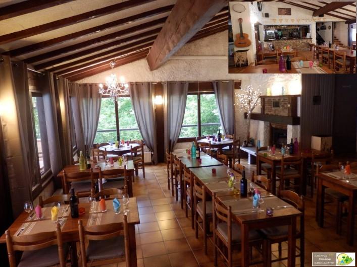 Location de vacances - Bungalow - Mobilhome à Casteil - le restaurant et le bar