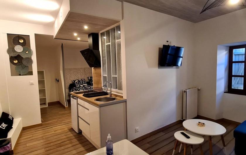 Location de vacances - Appartement à Saint-Montan - Sejour kitchenette