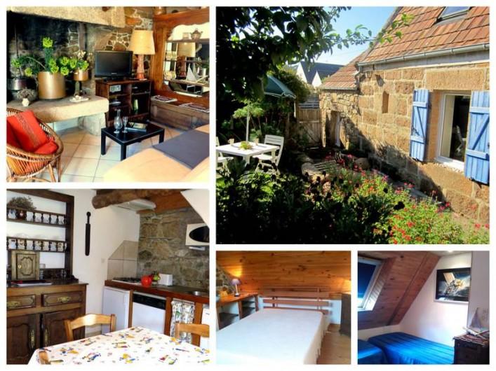Location de vacances - Gîte à Perros-Guirec - intérieur maison des pêcheurs Ploumanach Perros Guirec