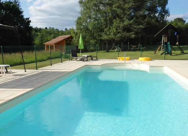 Location de vacances - Gîte à Bouillac - La piscine vous attend !