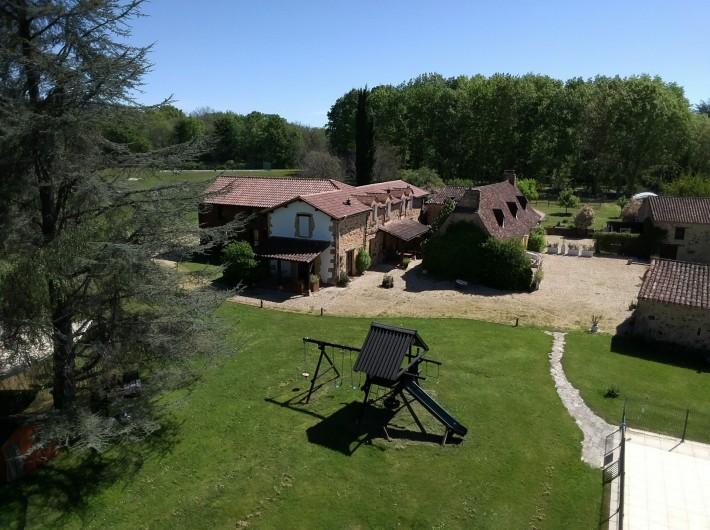 Location de vacances - Gîte à Bouillac - Le cours de tennis des gîtes du Bouillatou