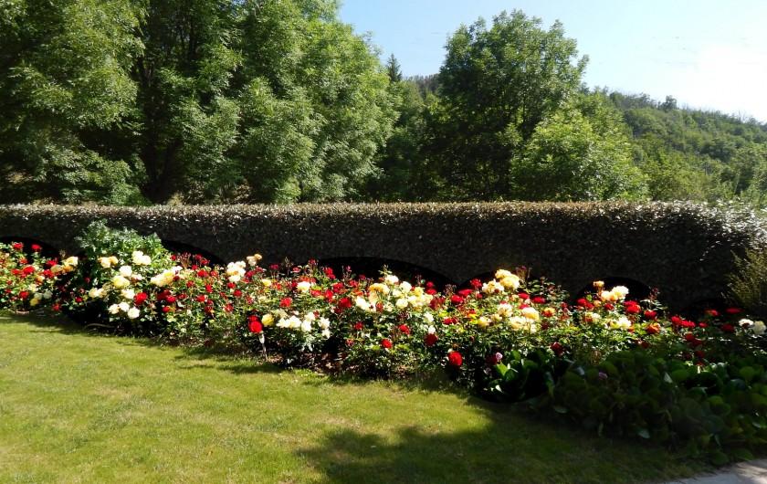 Location de vacances - Gîte à Meyras - jardin paysagé (à v/disposi-tion si vous aimez vous reposer dans la verdure.